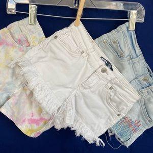 Lot of 3 denim short shorts for girls size 7/8 EUC
